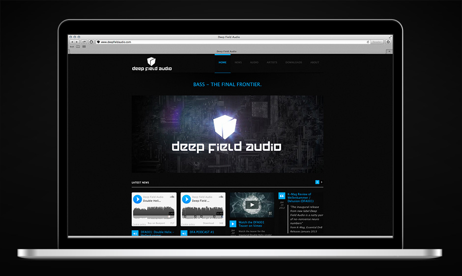 Deep Field Audio – Webdesign